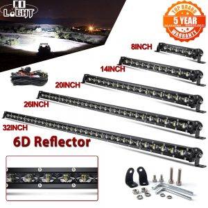 """CO LIGHT 6D Slim Led Light Bar 12V 8"""" 14"""" 20"""" 26"""" 32"""" 38"""" 44"""" 50"""" inch Spot Flood Combo For SUV 4X4 Off Road LED Work Light Lamp"""
